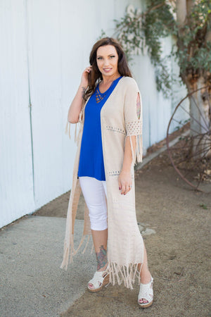 On the Fringe Duster Cardigan