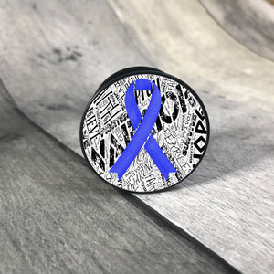 Awareness Ribbon phone grips - word background phone grip The Teal Bandit dark blue white