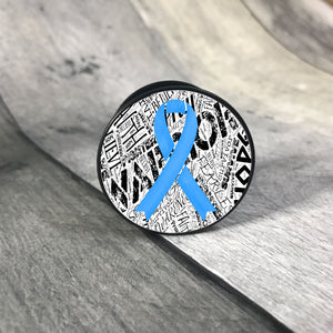 Awareness Ribbon phone grips - word background phone grip The Teal Bandit light blue white