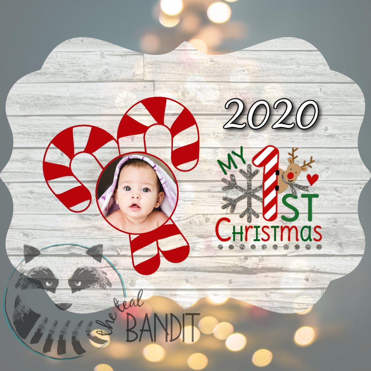 Baby's First Christmas Ornament Ornament The Teal Bandit