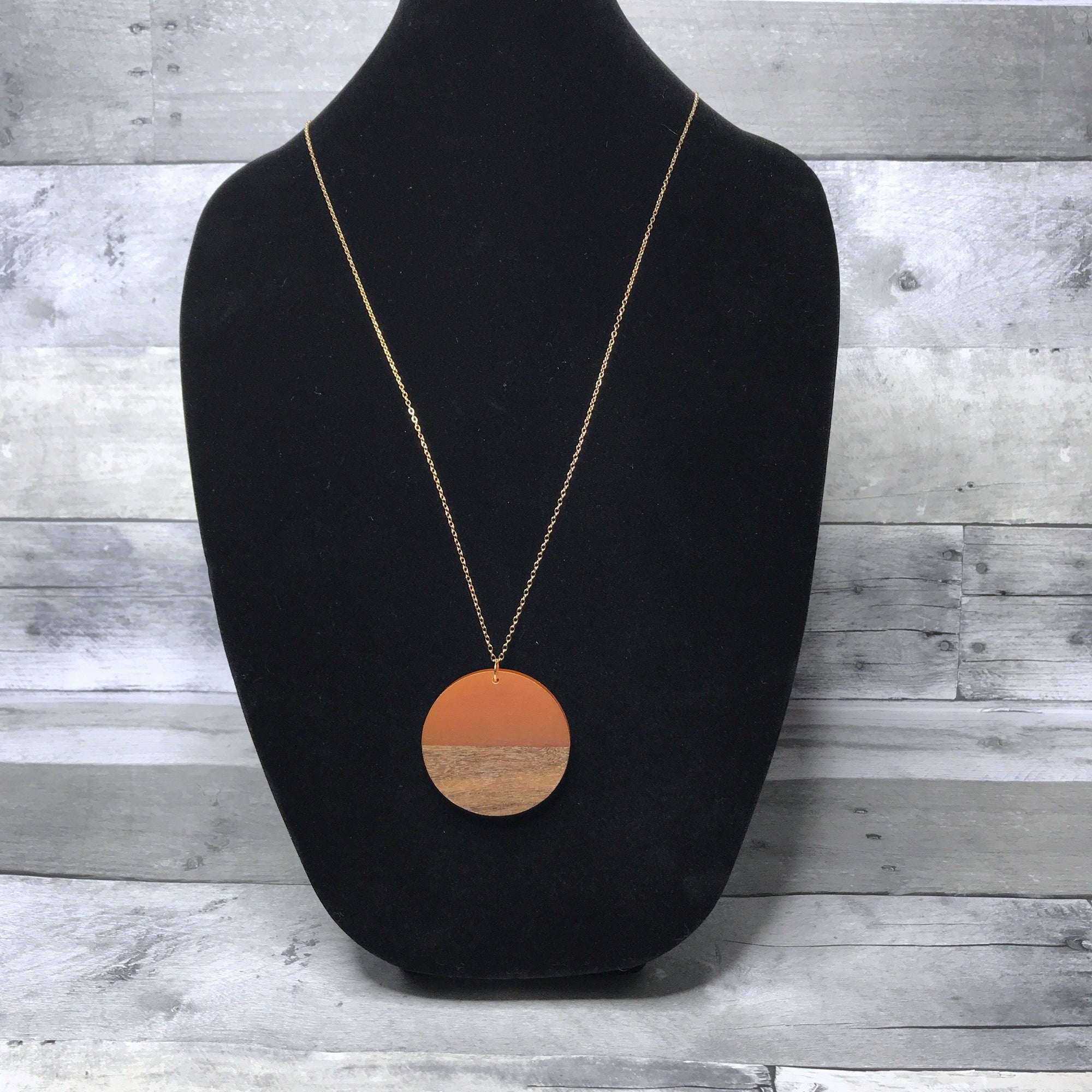 Circle Pendant Necklace women's necklace The Teal Bandit