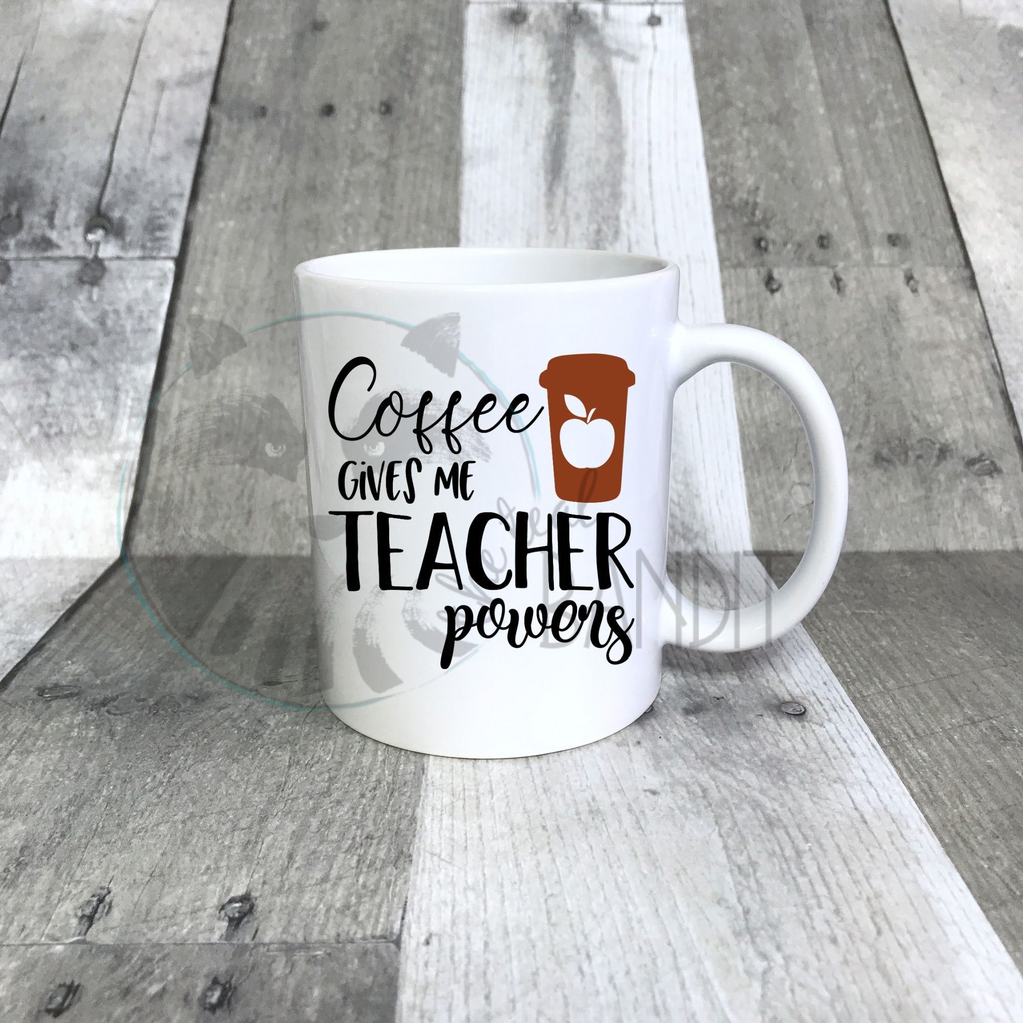Coffee Gives Teaching Powers mug mug The Teal Bandit