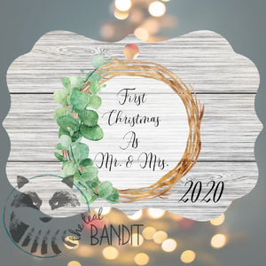 First Christmas Married Ornament The Teal Bandit Mr & Mrs