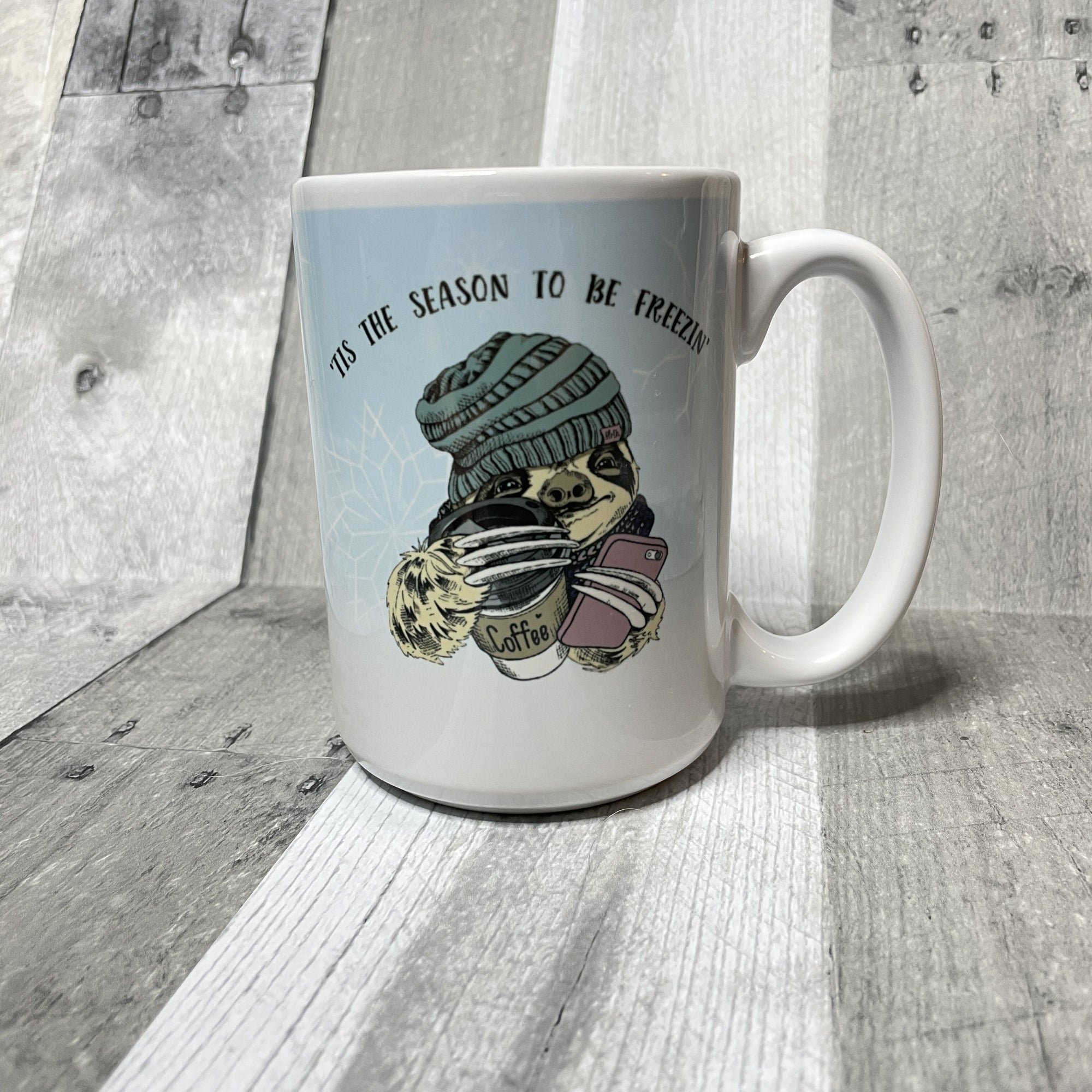 Freezin' Season mug mug The Teal Bandit