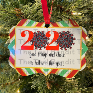 Ode to 2020 Ornament Ornament The Teal Bandit Covid-19 virus