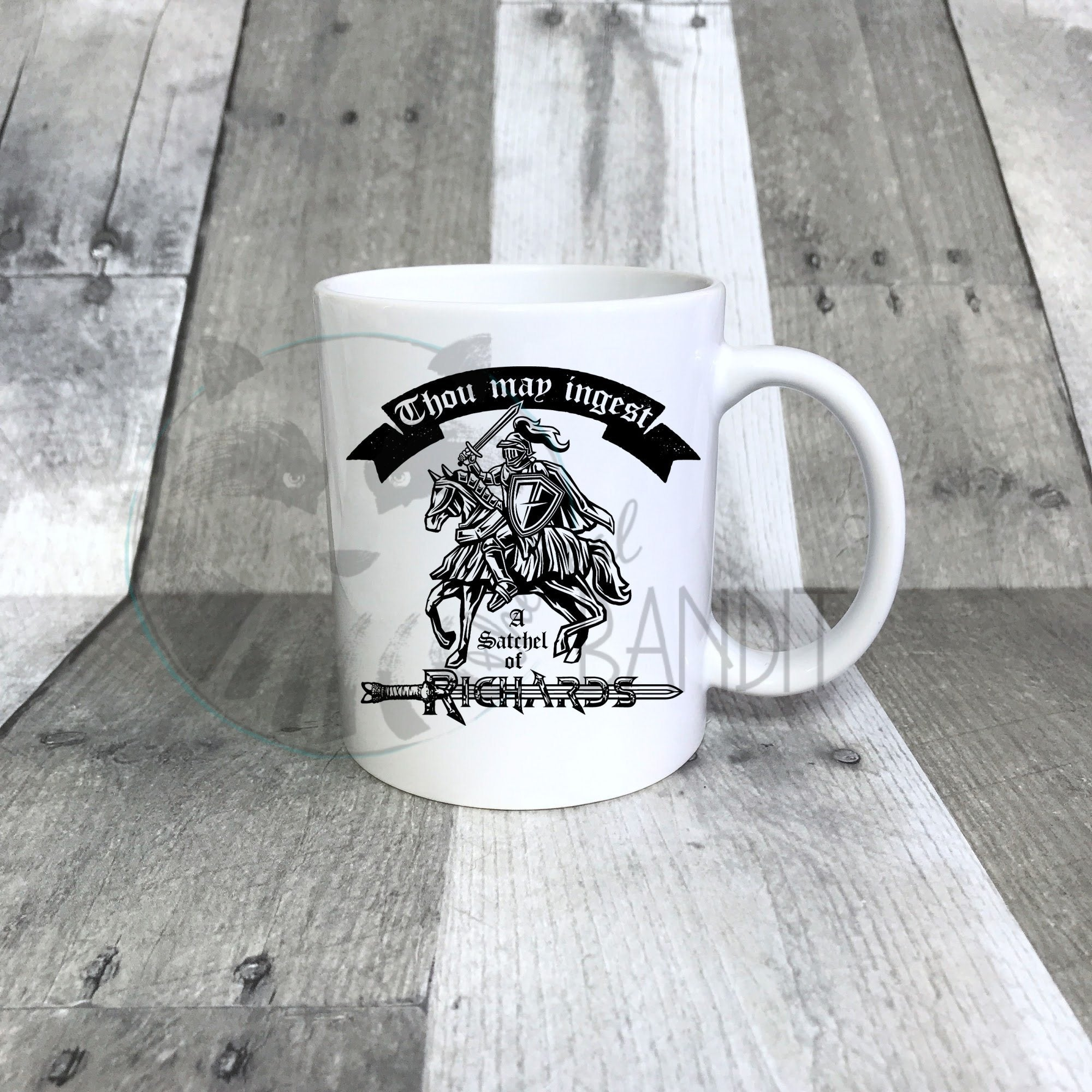 Satchel of Richards mug mug The Teal Bandit