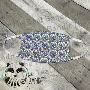 Special Flower face cover face cover The Teal Bandit