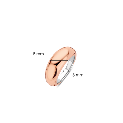 Skinny Domed Rose Gold Milano Ring