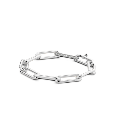 Milano Thick Rectangle Link Chain Bracelet