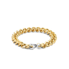 Medium Link Milano Bracelet in Gold & Siver