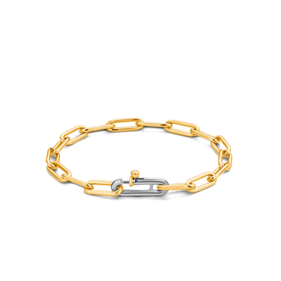 Classic Milano Rectangle Link Gilded Bracelet