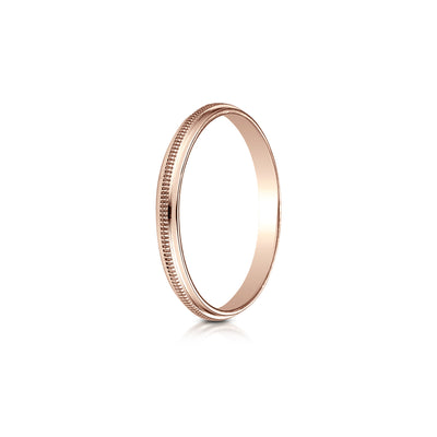 Milgrain Plain Gold 2mm Wedding Band Desires By Mikolay