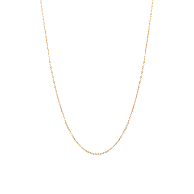 Yellow Gold Simple Milano Chain Necklace
