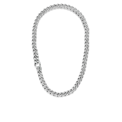 Milano Chunky Link Chain Necklace in Two Tone or All Silver
