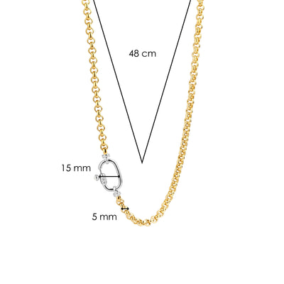 Gold Milano Rolo Chain Necklace