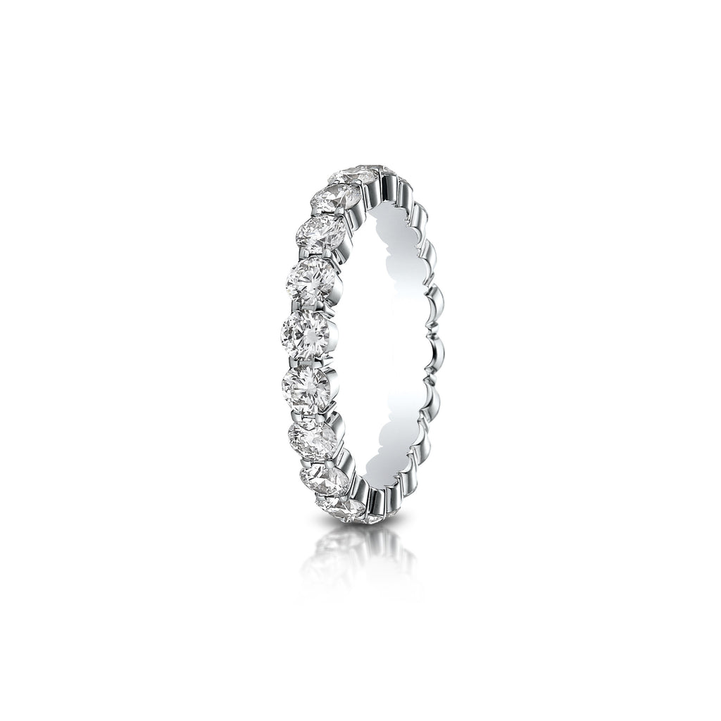 Shared Prong Diamond Eternity Band 3mm
