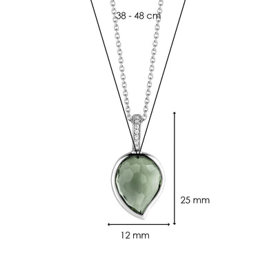Green Petal Milano Pendant Necklace