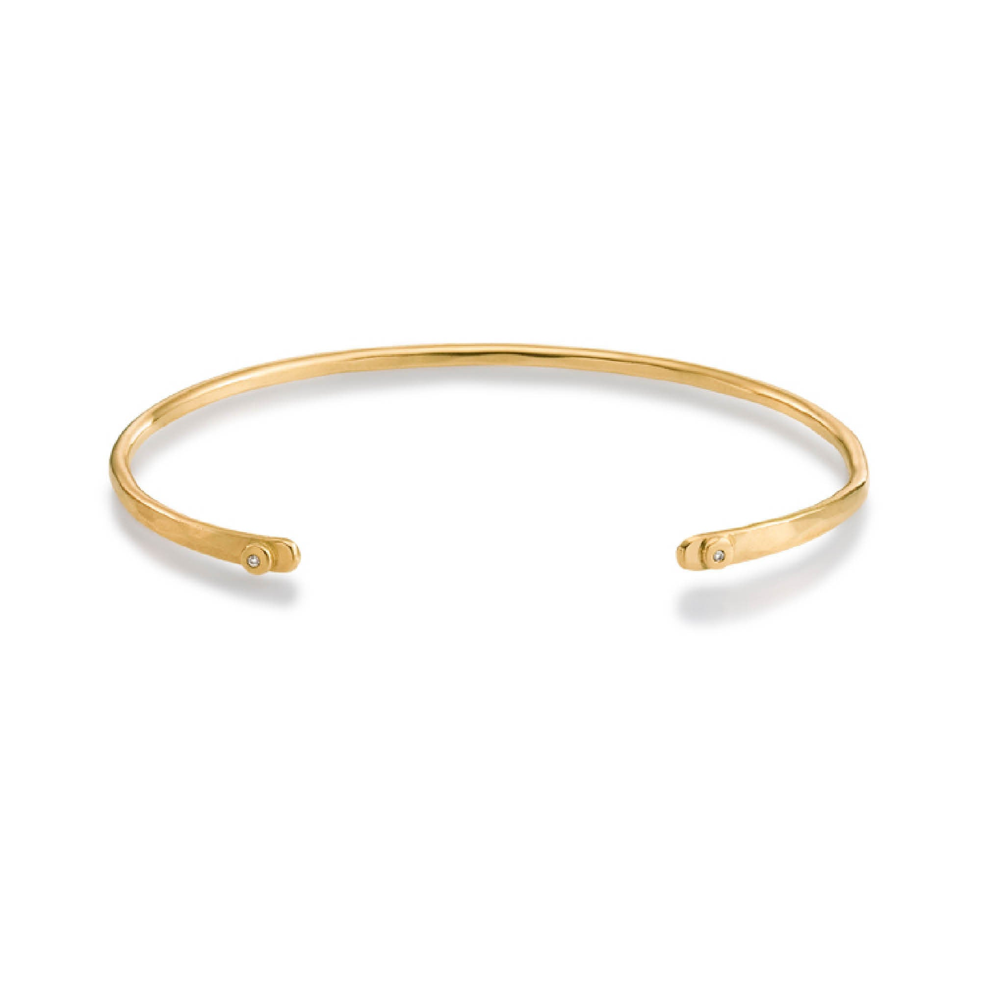 open bracelet rose bangle london diamond collection bangles pave gold