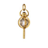 Mini Carpe Diem Rock Crystal Key Necklace