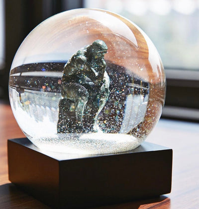 The Thinker Keepsake Snow Globe