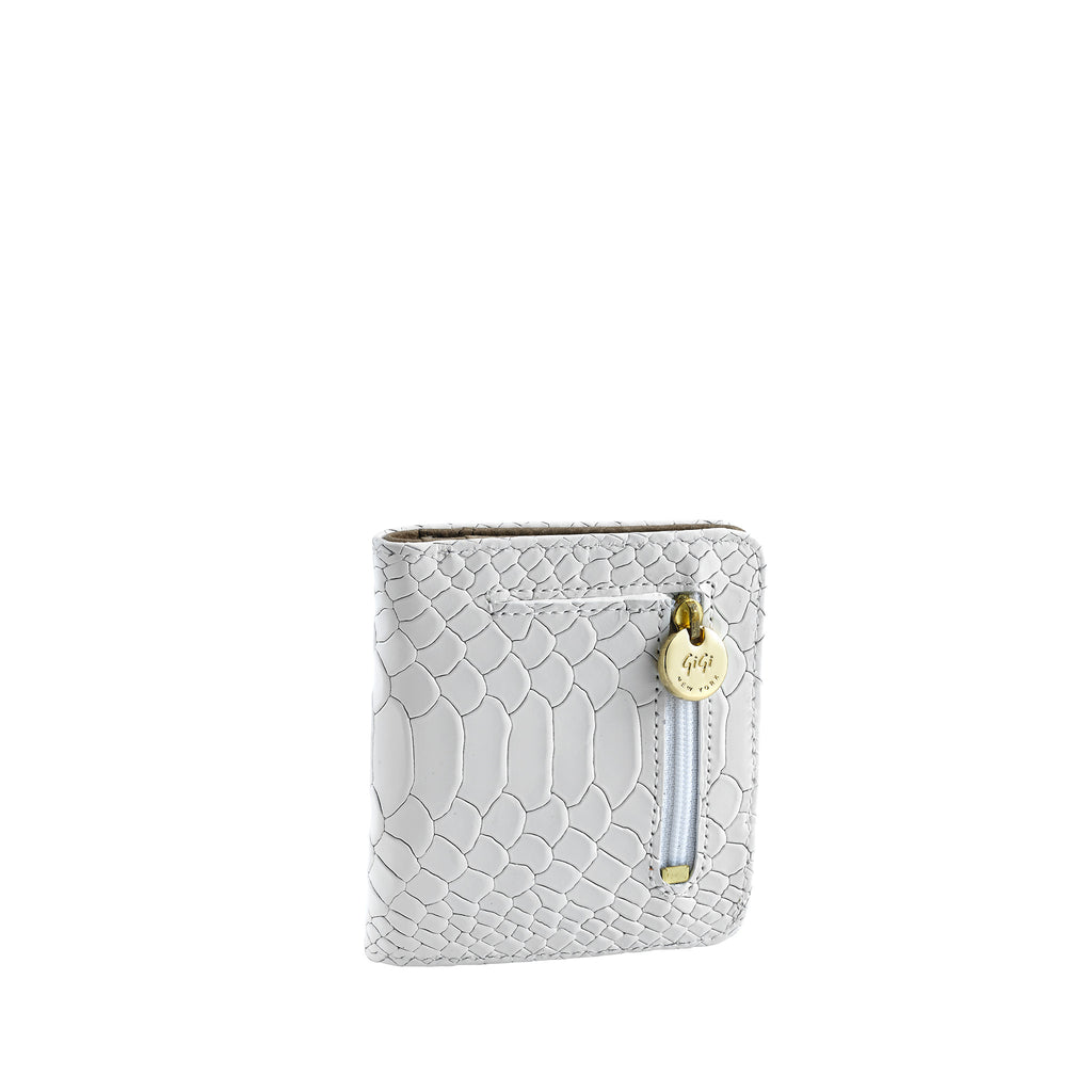 Gigi NY Python Leather Mini Wallet