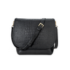 Andie Crossbody Bag in Black Croc