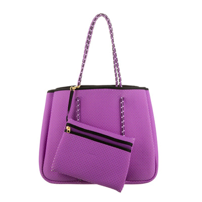 Annabel Ingall Neoprene Tote Bag in Lilac