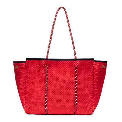 Neoprene Tote Bag in Crimson