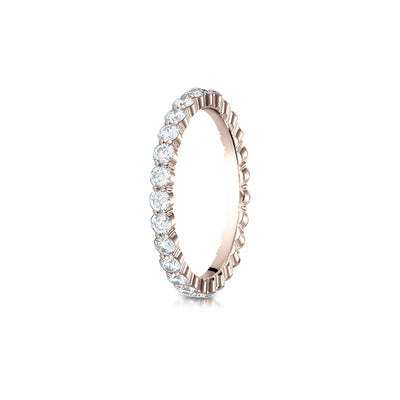 Shared Prong Diamond Eternity Band 2.5mm