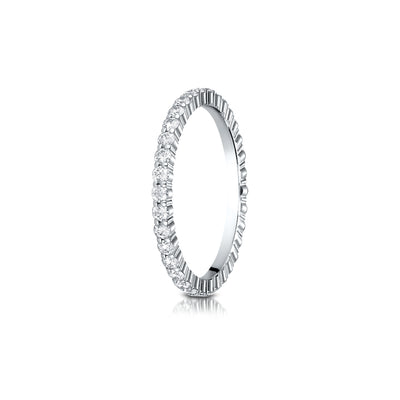 Shared Prong Diamond Eternity Band 2mm