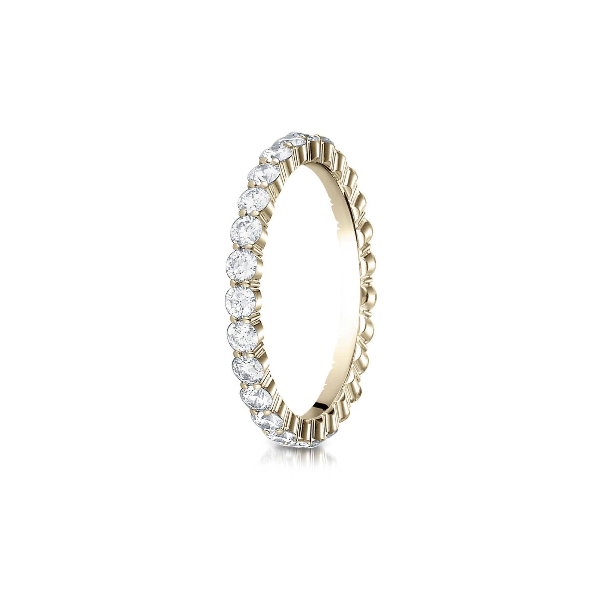 eternity half rivoireternitywhite band gold ring bands diamond white rivoir