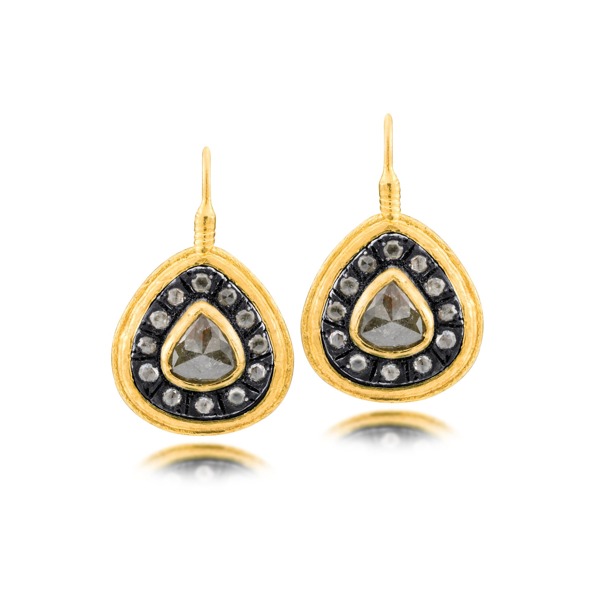 binenbaum image diamond gold earrings antiques product jewelry
