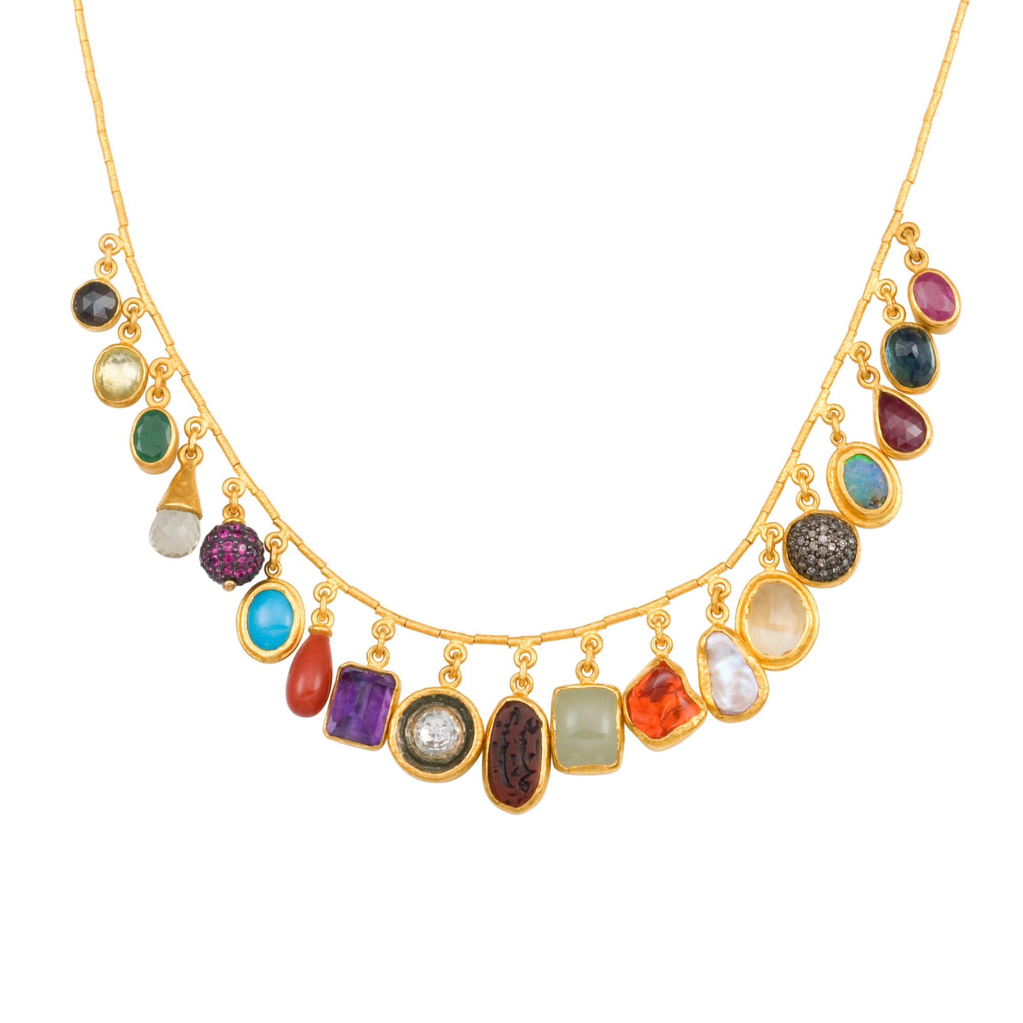 jewelry for at multi org necklace id gemstone vintage j gem sale necklaces gold link