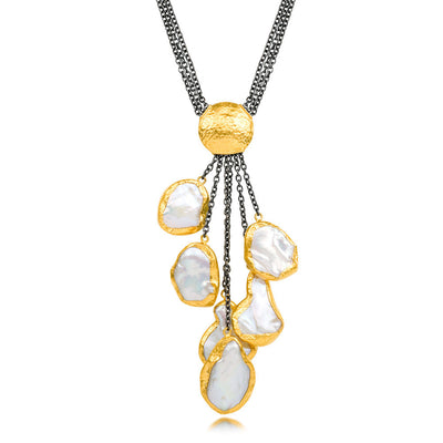 Pearl Couture Necklace by Jewelry Designer Ara Collection