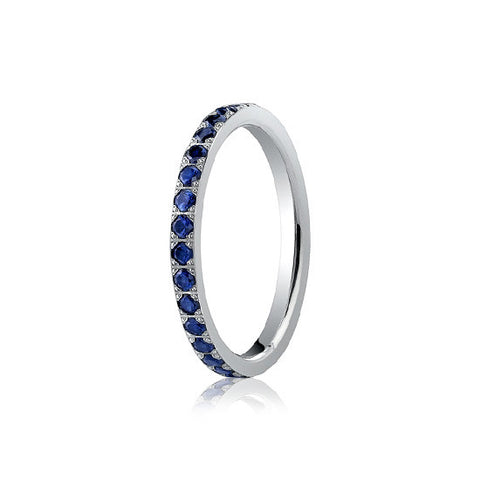 Blue Sapphire Eternity Band