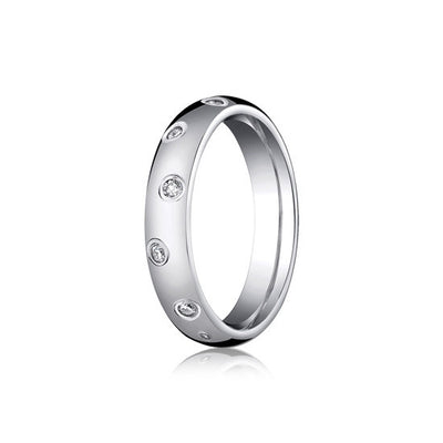 Diamond Etoile Style Eternity 4mm Wedding Band
