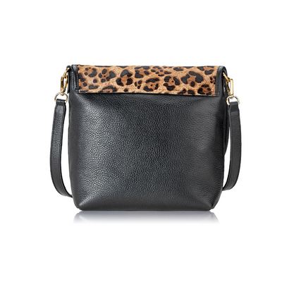 Gigi NY Andie Crossbody in Leopard Haircalf