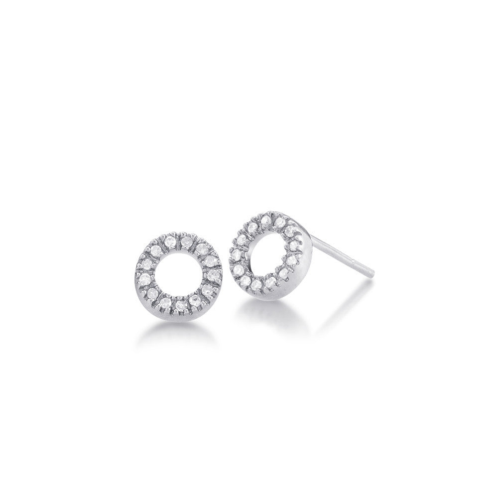 circle open gold silver in products salt earrings stud