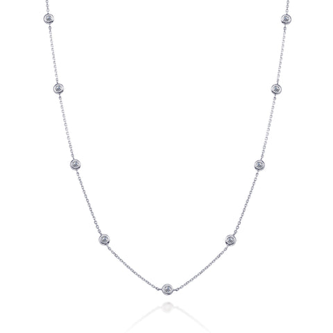 Bling! Diamond by the Yard Necklace .50CTW in White Gold