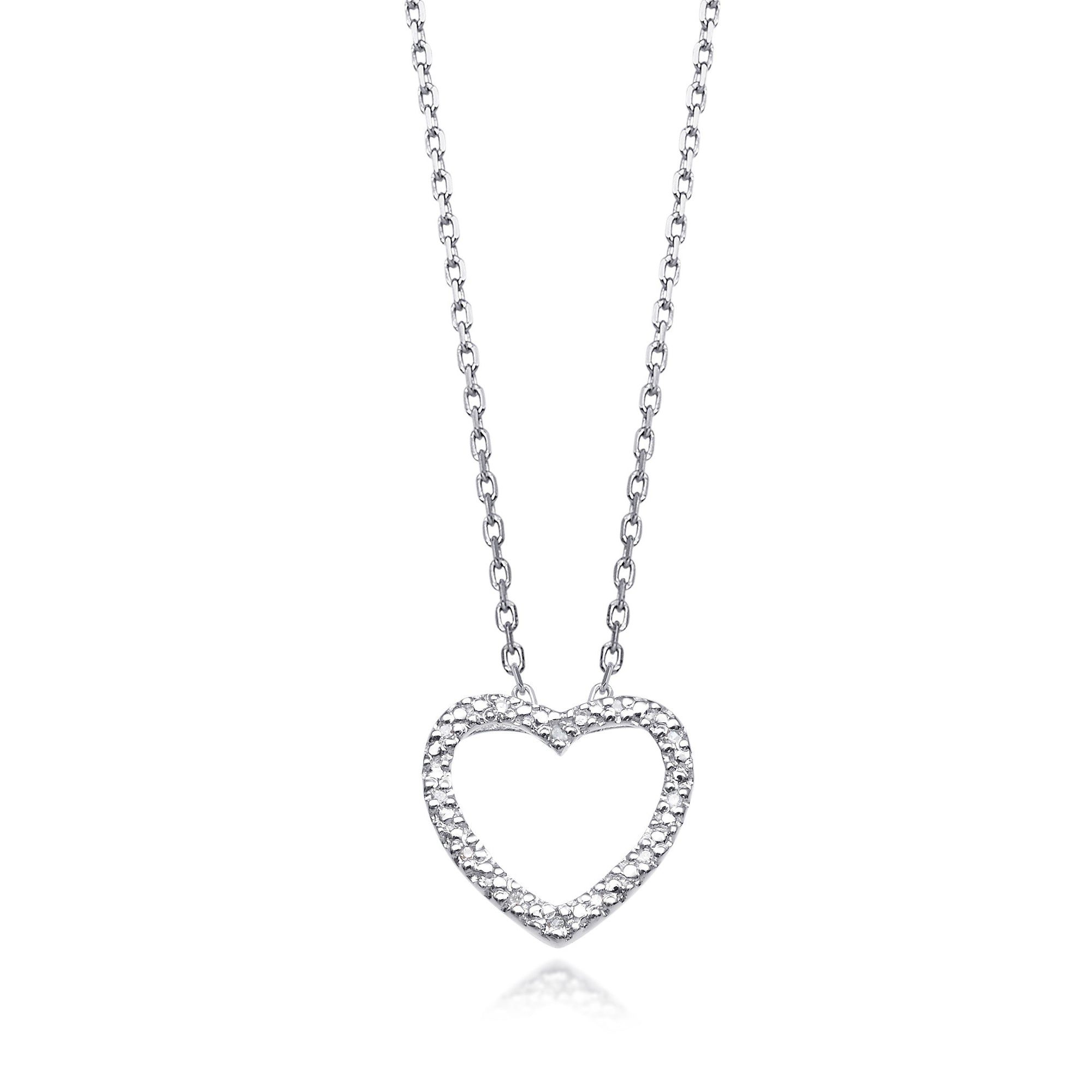 product white jewelry necklace gallery diamond normal treasures coin roberto slanted gold tiny open heart lyst pendant