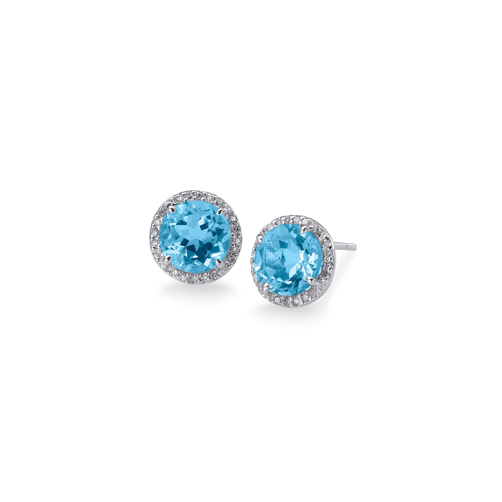 stud lengh p on blue earrings push post diamond weight