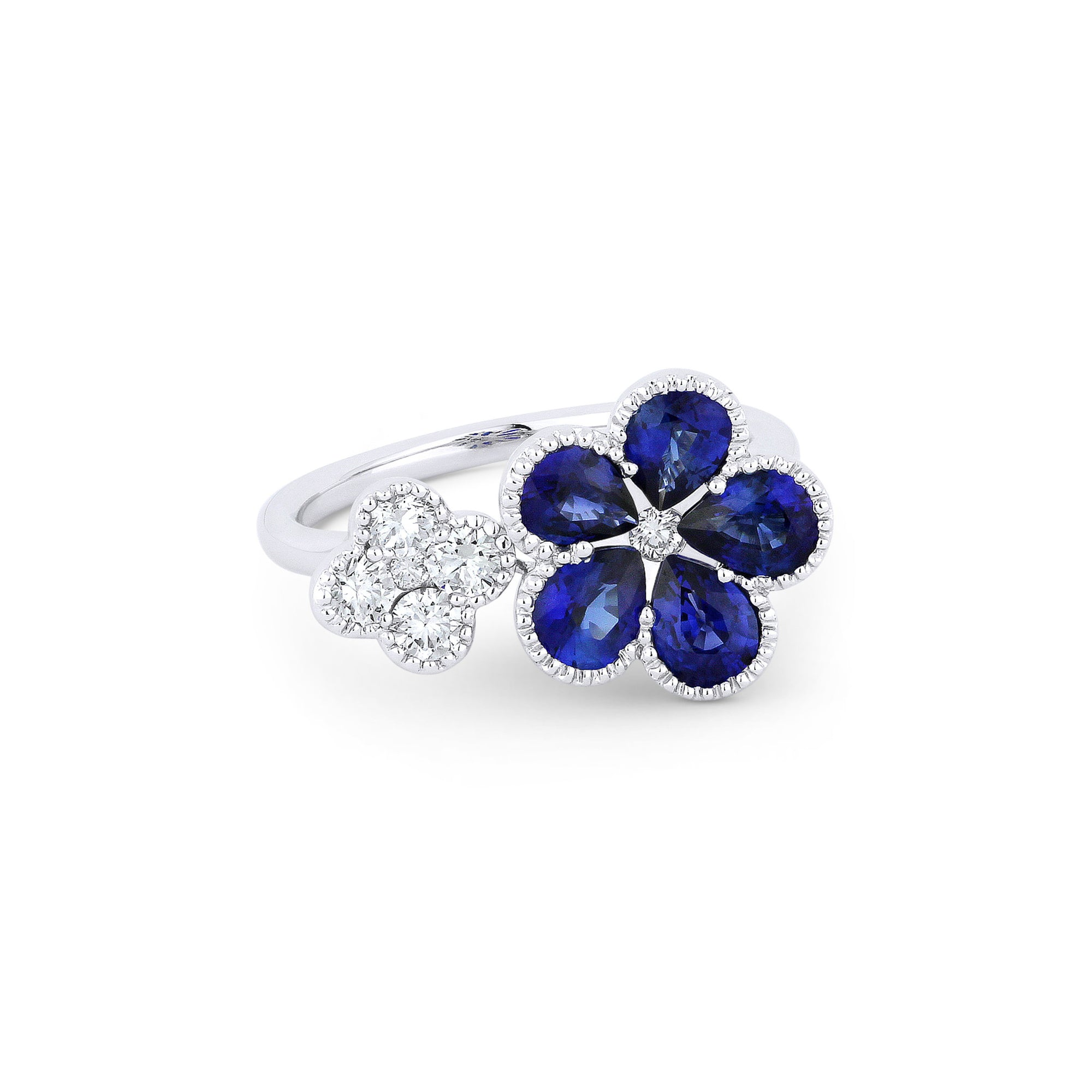 on finger artemer pear ring sapphire products high engagement res white