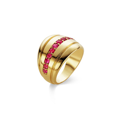 Scott Mikolay Boleyn Cigar Band with Gemstones