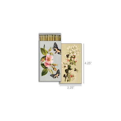 Decorative Paper Matchbox Butterfly & Flowers