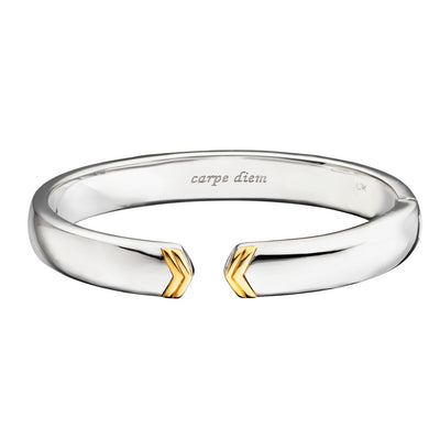 Chevron Poesy Two-Tone Cuff