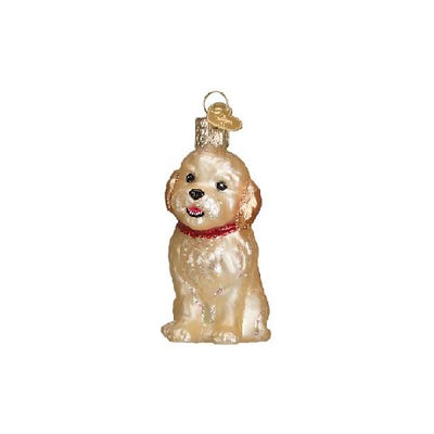 Old World Christmas Cockapoo Puppy Ornament