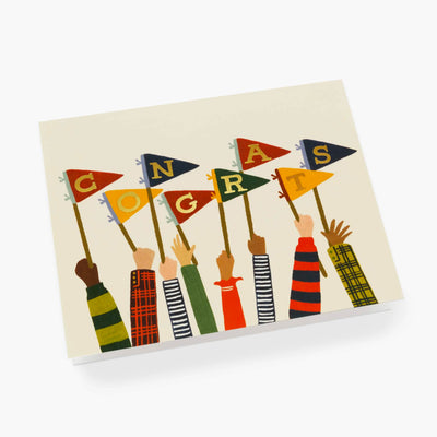 Congrats Pennants Card