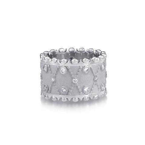 Diamond Band Crown Ring by Scott Mikolay from the Aragon Collection