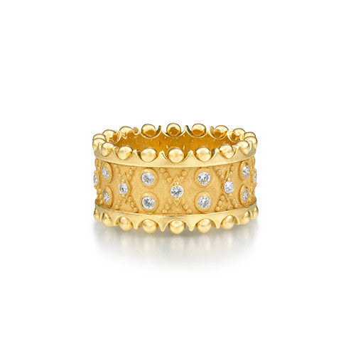 Diamond Crown Wide Ring by Scott Mikolay from the Aragon Collection