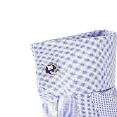 new york giants football helmet cufflink on sleeve